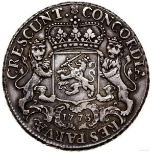 Dukaton, 1773; Aw: Rycerz na koniu w prawo, pod koniem ...