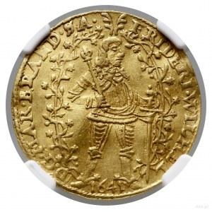 Dwudukat, 1641 LM, Berlin; Aw: Władca w zbroi, stojący ...