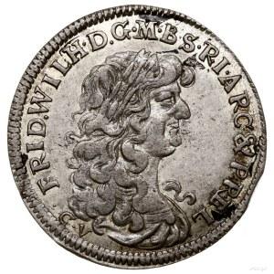 Szóstak, 1674 CV, Królewiec; •C•V pod popiersiem oraz P...