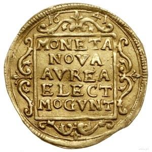 Dukat, 1641, Moguncja; Aw: Czteropolowa tarcza herbowa,...