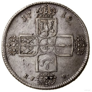 1/4 talara, 1719 HF-H, Berlin (?); wybite dla księstwa ...