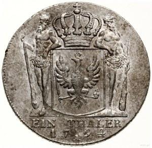 Talar, 1794 A, Berlin; Aw: Popiersie władcy w prawo, FR...