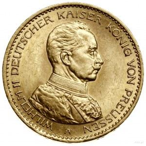 20 marek, 1915 A, Berlin; popiersie cesarza w mundurze;...