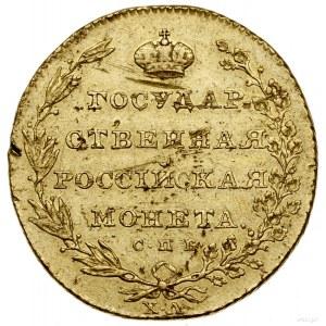 10 rubli, 1805 СПБ XЛ, Petersburg; Aw: Cztery ukoronowa...