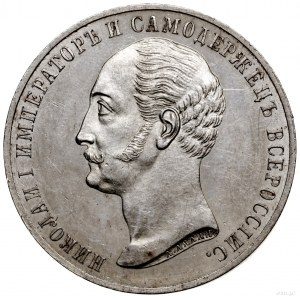 Rubel pomnikowy, 1859, Petersburg; wybity z okazji odsł...