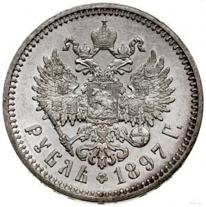 Rubel, 1897 (А•Г), Petersburg; Bitkin 41, Kazakov 76, U...