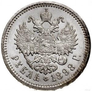 Rubel, 1898 (А•Г), Petersburg; Bitkin 43, Kazakov 114, ...