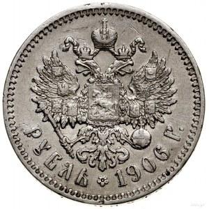 Rubel, 1906 (Э•Б), Petersburg; Bitkin 60 (R), Kazakov 3...