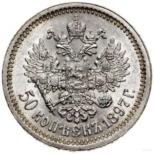 50 kopiejek, 1897 (★), Paryż; Bitkin 197, Kazakov 85; m...