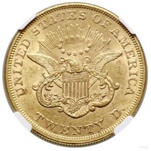 20 dolarów, 1856, Filadelfia; typ Liberty Head;, no mot...