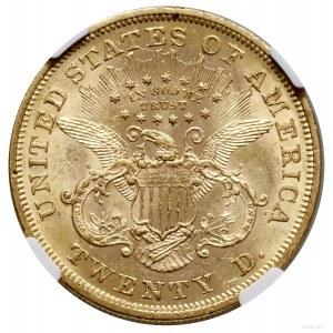 20 dolarów, 1867, Filadelfia; typ Liberty Head, with mo...