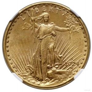 20 dolarów, 1924 D, Denver; typ Saint Gaudens; Fr. 187,...