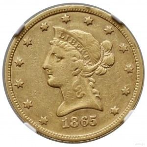 10 dolarów, 1865 /INV 186/ S, San Francisco; typ Libert...