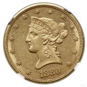 10 dolarów, 1880 CC, Carson City; typ Liberty Head, wit...