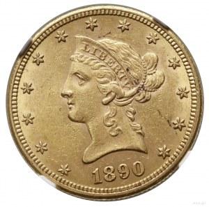 10 dolarów, 1890 CC, Carson City; typ Liberty Head, wit...