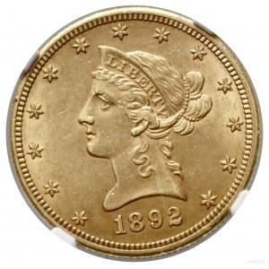 10 dolarów, 1892 CC, Carson City; typ Liberty Head, wit...