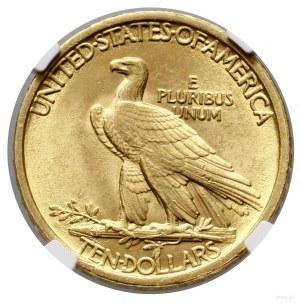 10 dolarów, 1907, Filadelfia; typ Indian Head, without ...