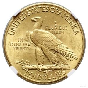 10 dolarów 1909, Filadelfia; typ Indian Head, with mott...