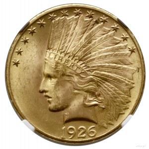 10 dolarów, 1926, Filadelfia; typ Indian Head; Fr. 166,...