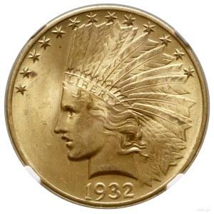 10 dolarów, 1932, Filadelfia; typ Indian Head, with mot...