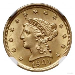 2 1/2 dolara, 1901, Filadelfia; typ Liberty Head; Fr. 1...