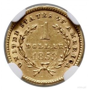 1 dolar, 1853, Filadelfia; typ Liberty Head; Fr. 84, KM...