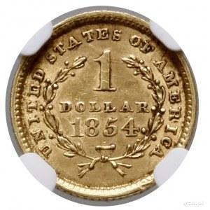 1 dolar, 1854, Filadelfia; typ Liberty Head; Fr. 84, KM...