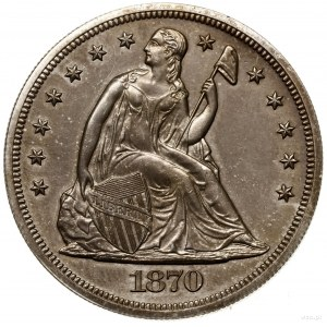 1 dolar, 1870, Filadelfia; typ Seated Liberty – PROOF; ...
