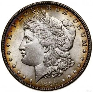 1 dolar, 1899, Filadelfia; typ Morgan; KM 110; srebro p...