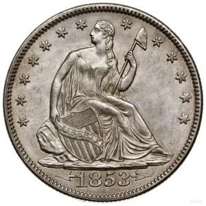 1/2 dolara, 1853, Filadelfia; typ Liberty Seated – Arro...