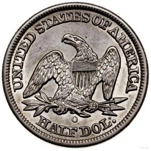 1/2 dolara, 1855 O, Nowy Orlean; typ Liberty Seated – A...