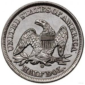 1/2 dolara, 1856 O, Nowy Orlean; typ Liberty Seated, be...
