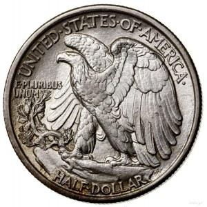 1/2 dolara, 1916, Filadelfia; typ Walking Liberty; KM 1...