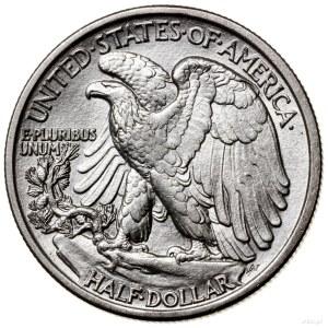 1/2 dolara, 1917 D (obv), Denver; typ Walking Liberty –...