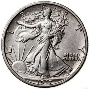 1/2 dolara, 1917 S (obv), San Francisco; typ Walking Li...