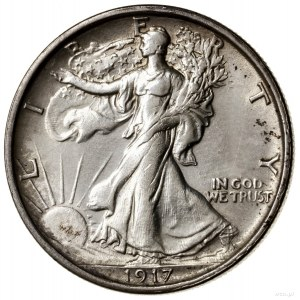 1/2 dolara, 1917 S (rev), San Francisco; typ Walking Li...