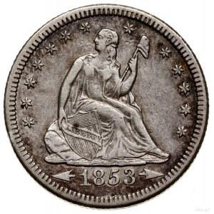 1/4 dolara, 1853 O, Nowy Orlean; typ Liberty Seated – A...