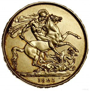 2 funty, 1823, Londyn; Aw: Głowa króla w lewo, GEORGIUS...