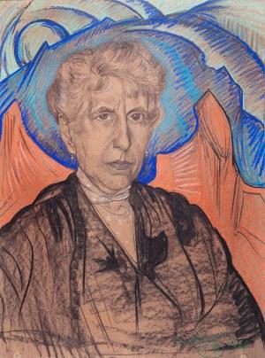 Stanisław Ignacy Witkiewicz (1885 Warszawa - 1939 Jeziory na Polesiu), Portret starszej kobiety, 1924 r.