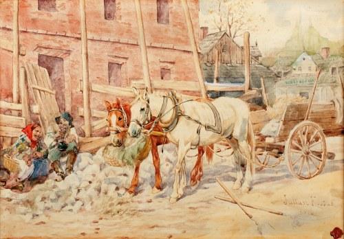 Juliusz Kossak (1824 Nowy Wiśnicz - 1899 Kraków), Południowy odpoczynek, 1886 r.