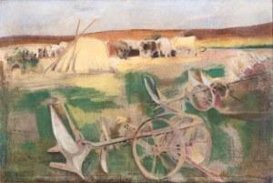 Kazimierz Sichulski (1879 Lwów - 1942 tamże), Odpoczynek podczas orki