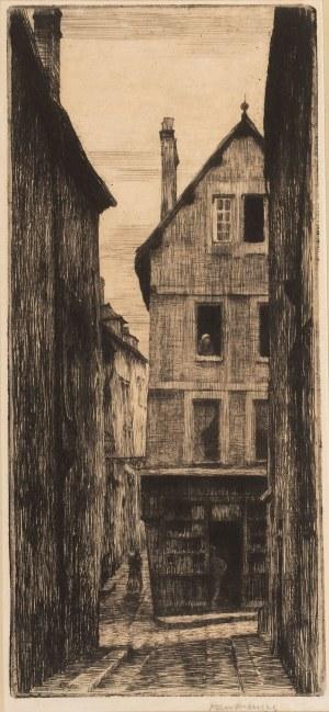 Józef Pankiewicz (1866 Lublin - 1940 Marsylia), Uliczka w Chartres, około 1903 r.