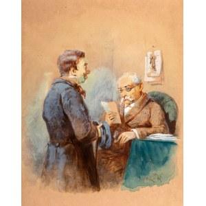 Franciszek Kostrzewski (1826 Warszawa - 1911 tamże), Posłaniec z listem, 1895 r.