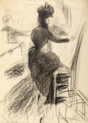Stanisław Kamocki (1875 Warszawa - 1944 Zakopane), W pracowni lekcja rysunku, ok. 1895