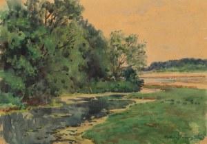 Tadeusz Cieślewski (1870 Warszawa-1956 tamże), Nad potokiem