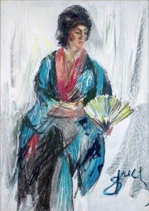 Antoni Suchanek (1901 Rzeszów - 1982 Gdynia), Portret japoński