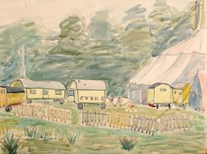 Władysław Brzosko (1912 Czyta/Syberia-2011 Arizona), Cyrk, 1951 r.