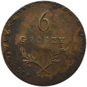 Oblężenie Zamościa, 6 groszy 1813, Zamość, ładne i rzadkie!!!