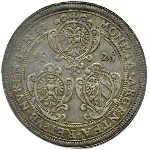 Niemcy, Norymberga, Ferdynand II, 1 talar 1625, rzadszy typ monety