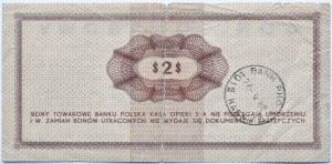 Polska, PeWeX, 2 dolary 1969, seria GM